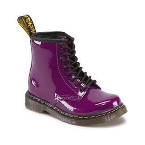 ♻️ Dr.Martens Delaney Purple Patent Leather Boots